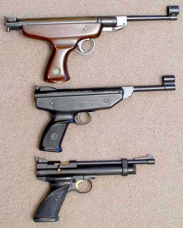 Beeman HW 70A air pistol with BSF S20 and Crosman 2240
