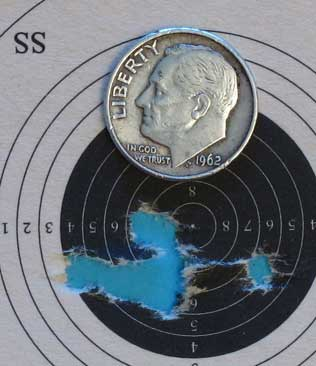 AirForce Talon SS rifle Premiers 25 yards 6 power