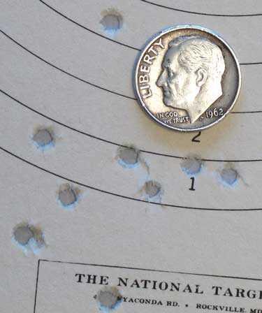 Benjamin Trail NP pistol Crosman Premier lite group