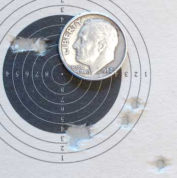 LGV Master Ultra .177 air rifle JSB Exact Heavy group 25 yards