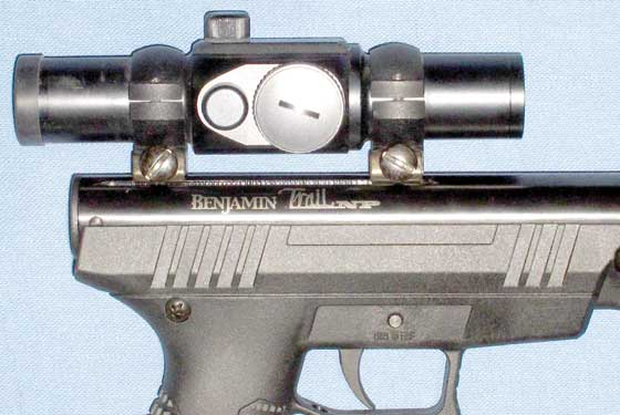 Benjamin Trail NP pistol with doit sight