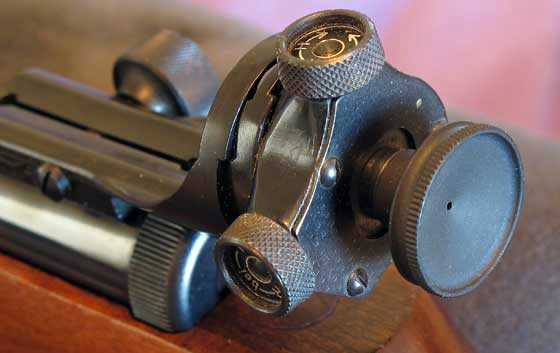Walther LGV Olympia rear sight
