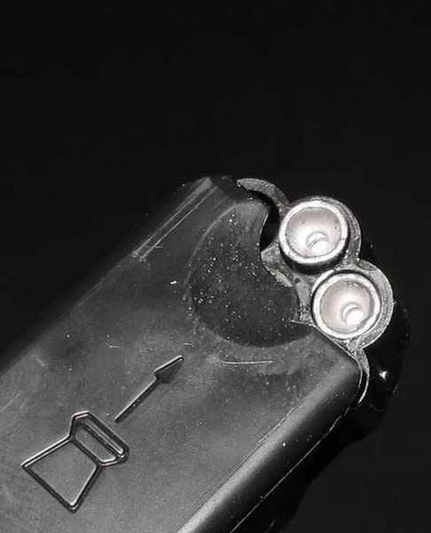 Gamo P25 air pistol clip closeup