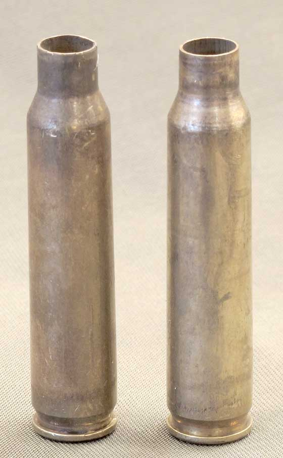two cartridge cases