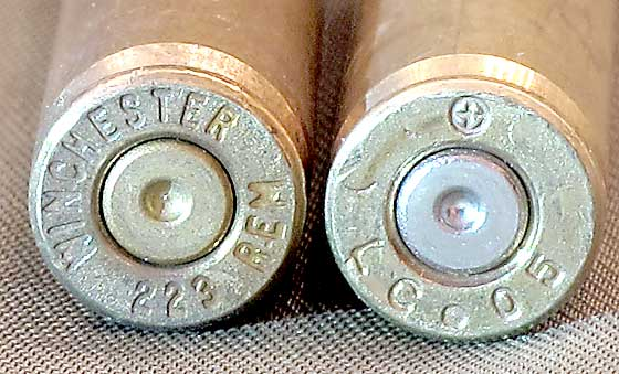 two cartridge case headstamps