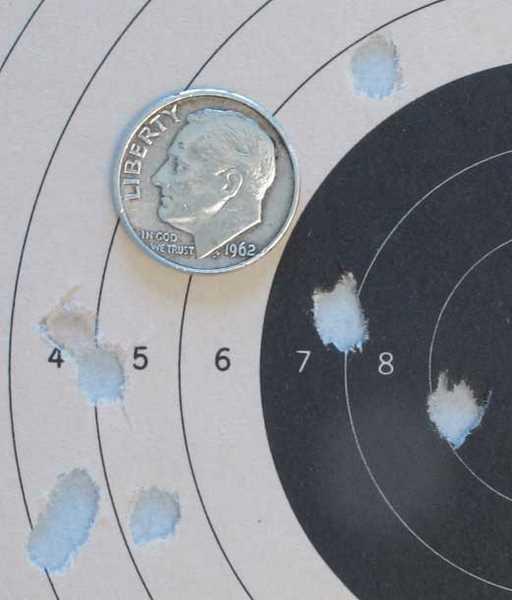 Gamo P-25 air pistol RWS Hobby target