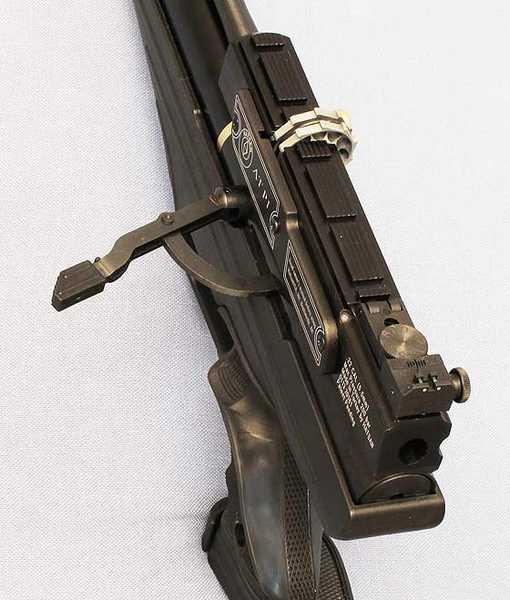 Hatsan AT P1 PCP air pistol cocked