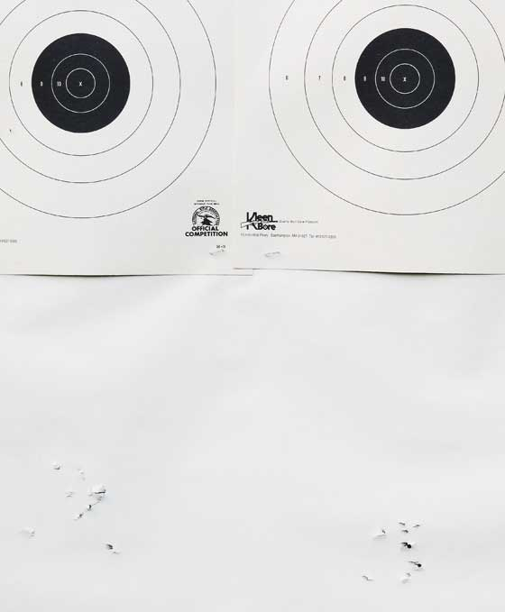Walther LGV Olympia 50-yard groups