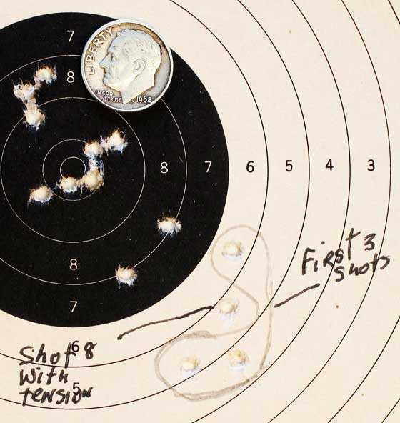 Gamo Whisper Fusion IGT air rifle JSB Exact RS group 25 yards