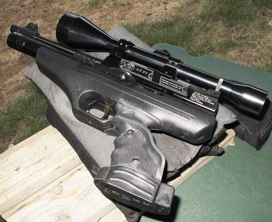 Hatsan AT P1 PCP air pistol scoped
