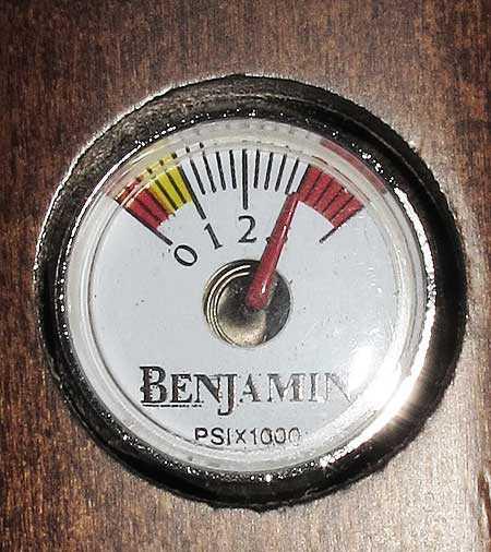 Benjamin Marauder pressure gauge