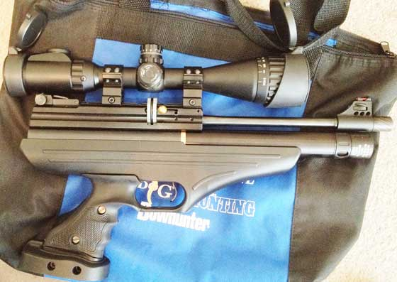 Hatsan AT P1 PCP air pistol with UTG 3-9 True Hunter scope