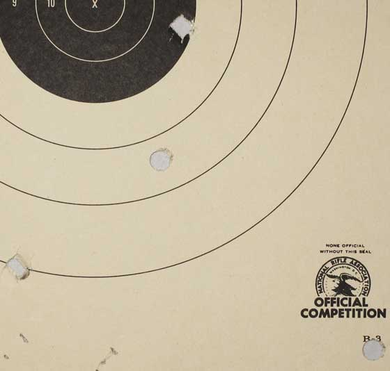 swaged bullet test 25 yards swaged bullet target2