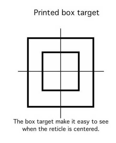 printed box target