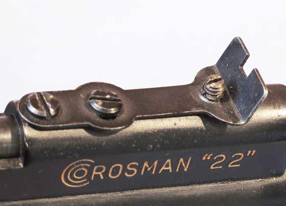 Crosman 116 pistol rear sight