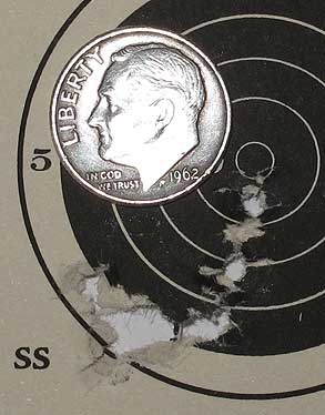 Hatsan AT P1 air pistol 25 yards Kodiak target 1