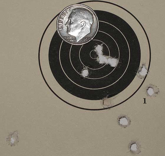 Hatsan AT P1 air pistol 25 yards JSB Monster target