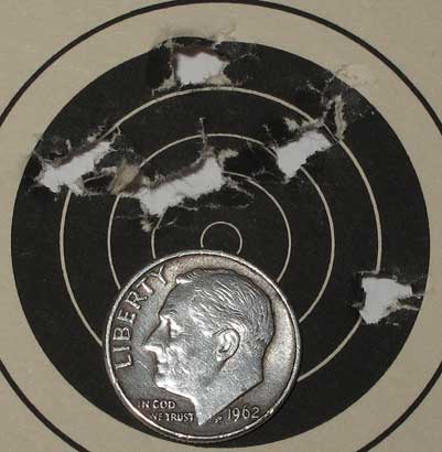 Hatsan AT P1 air pistol 25 yards Kodiak target 2