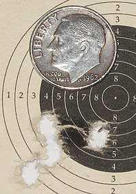 25-caliber Benjamin Marauder 25 yard target Diana Magnum