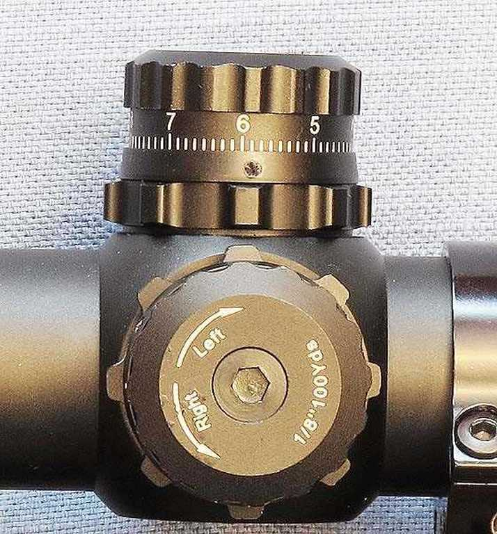 Leapers UTG 6-24X56 scope adjustment knobs