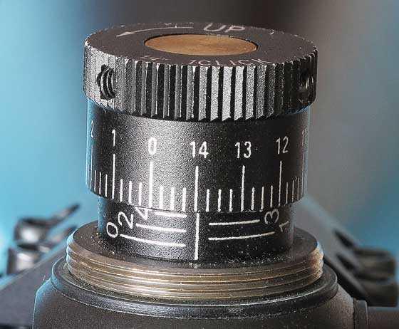 scope knob adjustment range