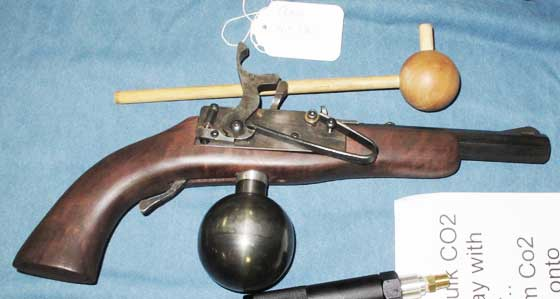 Reams ball flask pistol