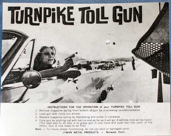 Toll Booth gun literature