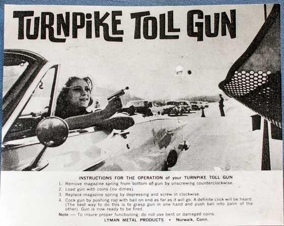 Toll Booth gun literature