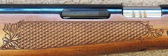 TX 200 Mark III new rifle checkering