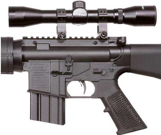 Crosman MTR77NP scoped air rifle receiver