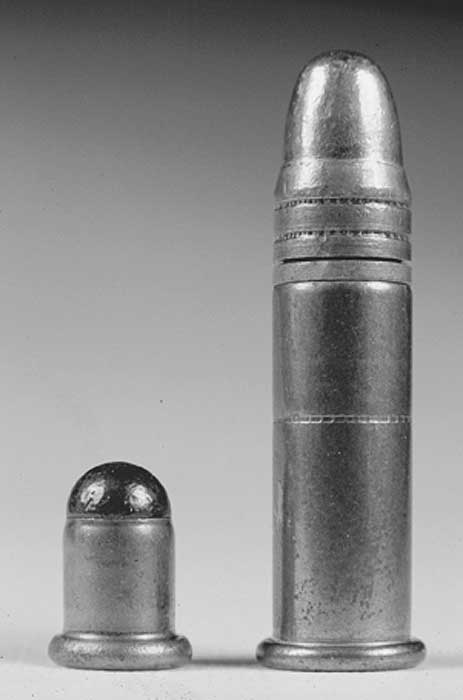 BB cap and 22 long rifle cartridge