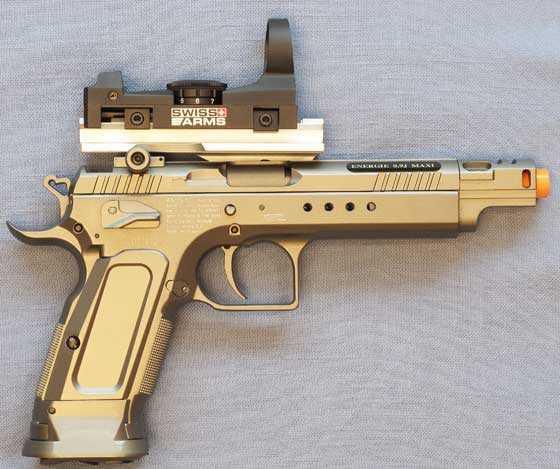 Tanfoglio Gold Custom Er4ic Grauffel CO2 Blowback Airsoft kit