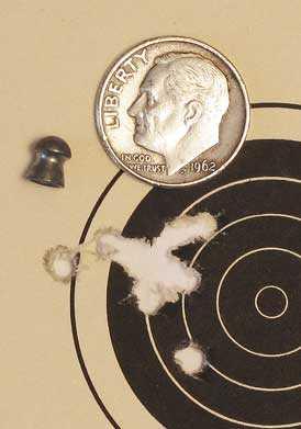 Crosman MTR77NP scoped air rifle Premier lite group