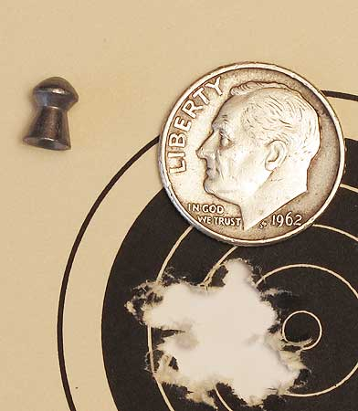 TX 200 Mark III new rifle H&N Baracuda Match 25-yard group