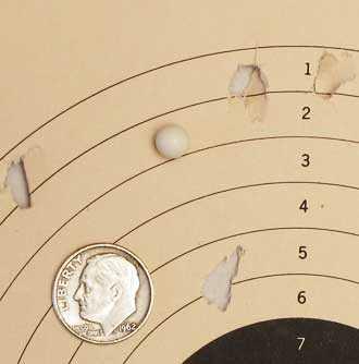 Tanfoglio Gold Custom Eric Grauffel airsoft pistol Air Venturi 0.25-gram BB target 10 meters