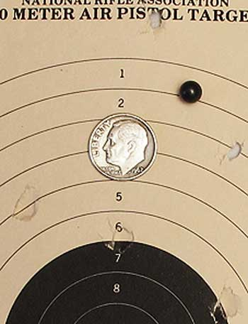Tanfoglio Gold Custom Eric Grauffel airsoft pistol Marui-Black-0.20-gram BB target 10 meters