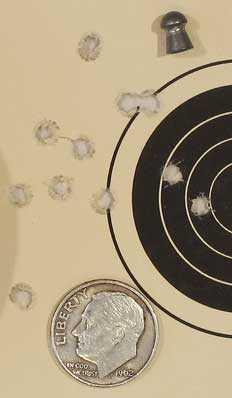 TX-200 Mark III new rifle 50 yard target Crosman Premier heavy group 2
