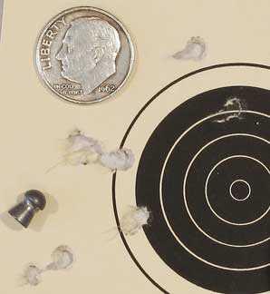 TX-200 Mark III new rifle 50 yard target Crosman Premier heavy group 4