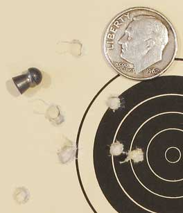 TX-200 Mark III new rifle 50 yard target Crosman Premier heavy group 5