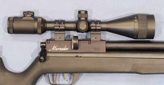 Benjamin Marauder synthetic stock with scope mounted