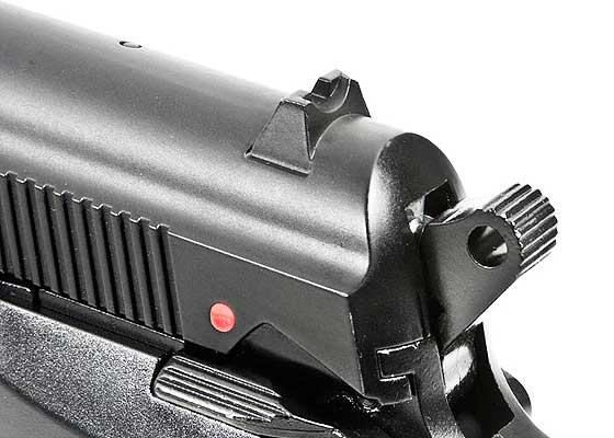 Beretta model 84 FS BB pistol rear sight