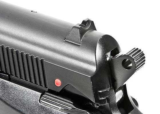 Beretta model 84 FS BB pistol rear sight