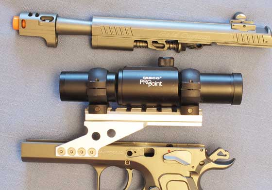 Tanfoglio Gold Custom Eric Grauffel airsoft pistol slide off