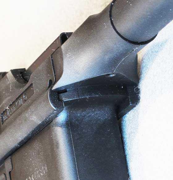 C96 BB pistol barrel detail