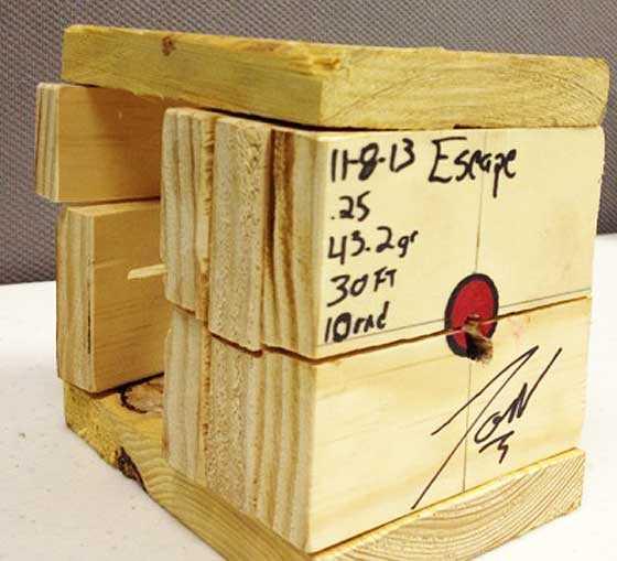 Esacpe wooden target