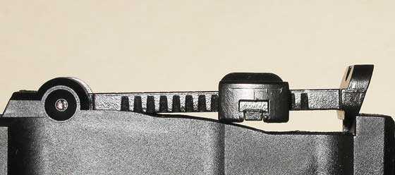 C96 BB pistol rear sight