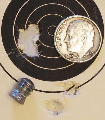 Air Force Escape rifle Eun Jin domed pellet group 2