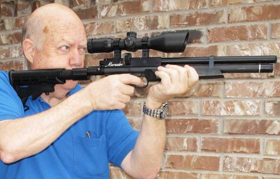 Benjamin Marauder Pistol Tom holding offhand