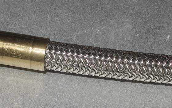 air hose with braided steel sheath