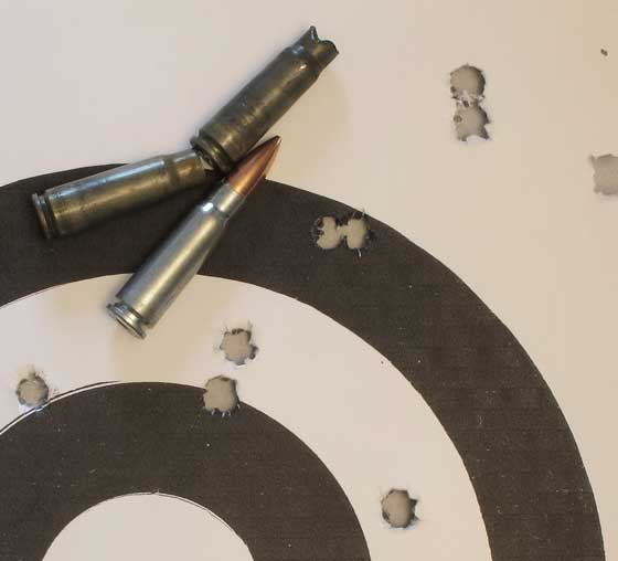 See All SKS 9-shot group scoped 100 yards